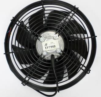 "EF7998 FAN 10"" EBM 24V PUSHER STEEL WITH GRILLE"