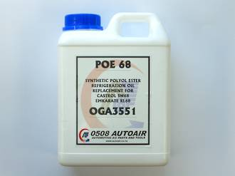 REFRIGERATION OIL SYNTHETIC POLYOL ESTER RL68 1L